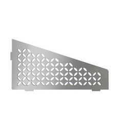 Schluter Shelf Quadrilat Corner Floral Brush Stainless Steel