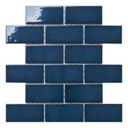 La Belle Antique Blue Polished Ceramic Mosaic