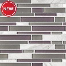 New! Violetta Volakas Marble Linear Glass Mosaic