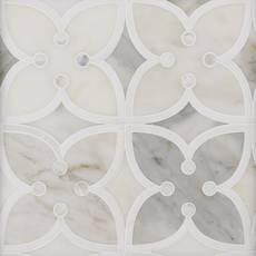 Jasmine II Calacatta Mother of Pearl Thassos Mosaic
