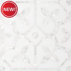 New! Versailles II Mother of Pearl Waterjet Marble Mosaic