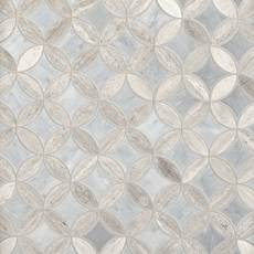 Valentino Bardiglio Tulip II Polished Marble Mosaic
