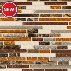 New! Bogota II Linear Glass Mosaic