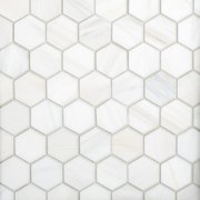 Bianco Dolomite 2 in. Hexagon Marble Tile