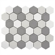 Light Blend Matte 2 in. Hexagon Porcelain Tile