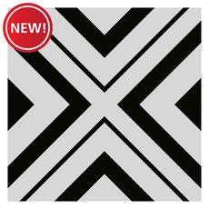 New! Haus Black White Porcelain Tile