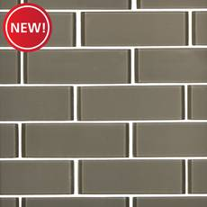 New! Wool II 2 x 6 in. Brick Glass Mosaic