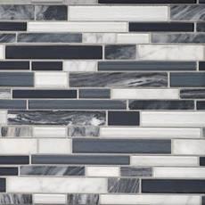 Nightfall Linear Glass Mosaic