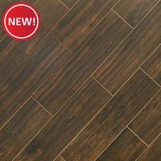 New! Burton Walnut III Wood Plank Porcelain Tile