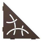Schluter Shelf Triangular Corner Curve Bronze