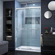 Encore Chrome Semi-Frameless Bypass Sliding Shower Door