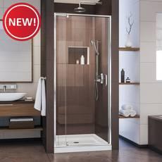 New! Flex Chrome Semi-Frameless Pivot Shower Door