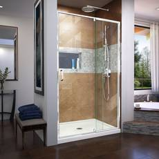 Flex Chrome Semi-Frameless Pivot Shower Door