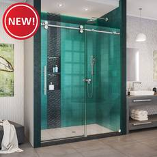 New! Enigma XO Polished Stainless Steel Fully Frameless Sliding Shower Door
