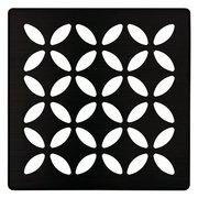 Schluter Kerdi-Drain 4in. Grate Matte Black Floral
