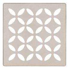 Schluter Kerdi-Drain 4in. Grate Cream Floral