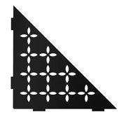 Schluter Shelf Triangular Corner Floral Matte Black