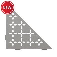New! Schluter Shelf Triangular Corner Floral Stone Grey