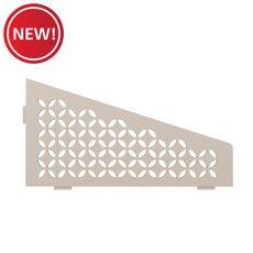 New! Schluter Shelf Quadrilateral Corner Floral Cream