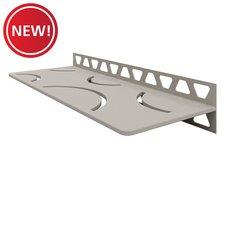 New! Schluter Shelf Rectangular Wall Curve Greige