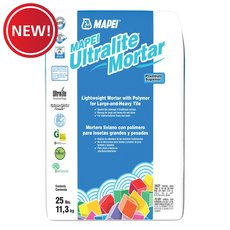 New! Mapei Ultralite Pro White Mortar