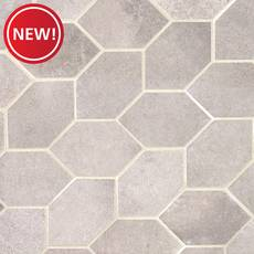 New! District Gray 13 in. Leaf Porcelain Mosaic
