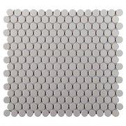 Gray Porcelain Penny Mosaic