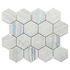 Portavilla 3 in. Hexagon Glass Mosaic