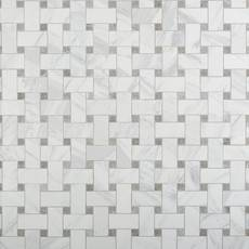 Cesari Bianca Basketweave Polished Porcelain Mosaic
