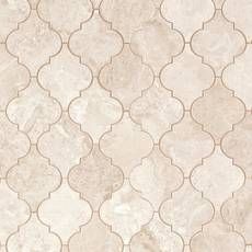 Crema Royal Arabesque II Polished Marble Tile