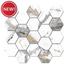 New! Rialto Grand Hexagon Porcelain Mosaic