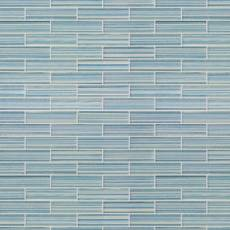 Maya Bay Tide 1 x 4 in. Brick Glass Mosaic