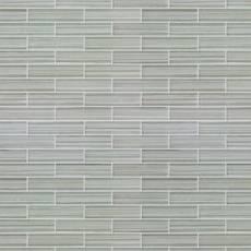 Maya Bay Pearl 1 x 4 in. Brick Glass Mosaic