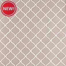 New! Heirloom Pewter Arabesque II Porcelain Tile