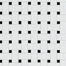 Black and White Basket Weave Porcelain Tile