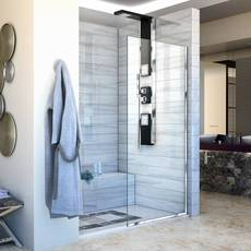 Linea Chrome Single Panel Framless Screen Shower Door