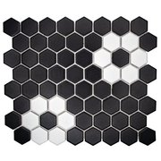 Dark Daisy 1.5 in. Ceramic Hexagon Mosaic