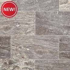 New! Aqua Silver Vein Cut Honed Travertine Tile