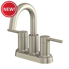 New! Rhiver 4 in. Center Set Brushed Nickel Faucet