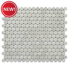 New! Industria Matte Ceramic Penny Mosaic