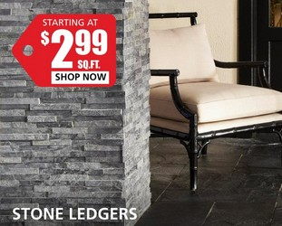 Stone Ledgers starting at $2.99 per square foot