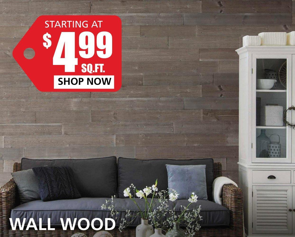Wall Wood starting at $4.99 per square foot