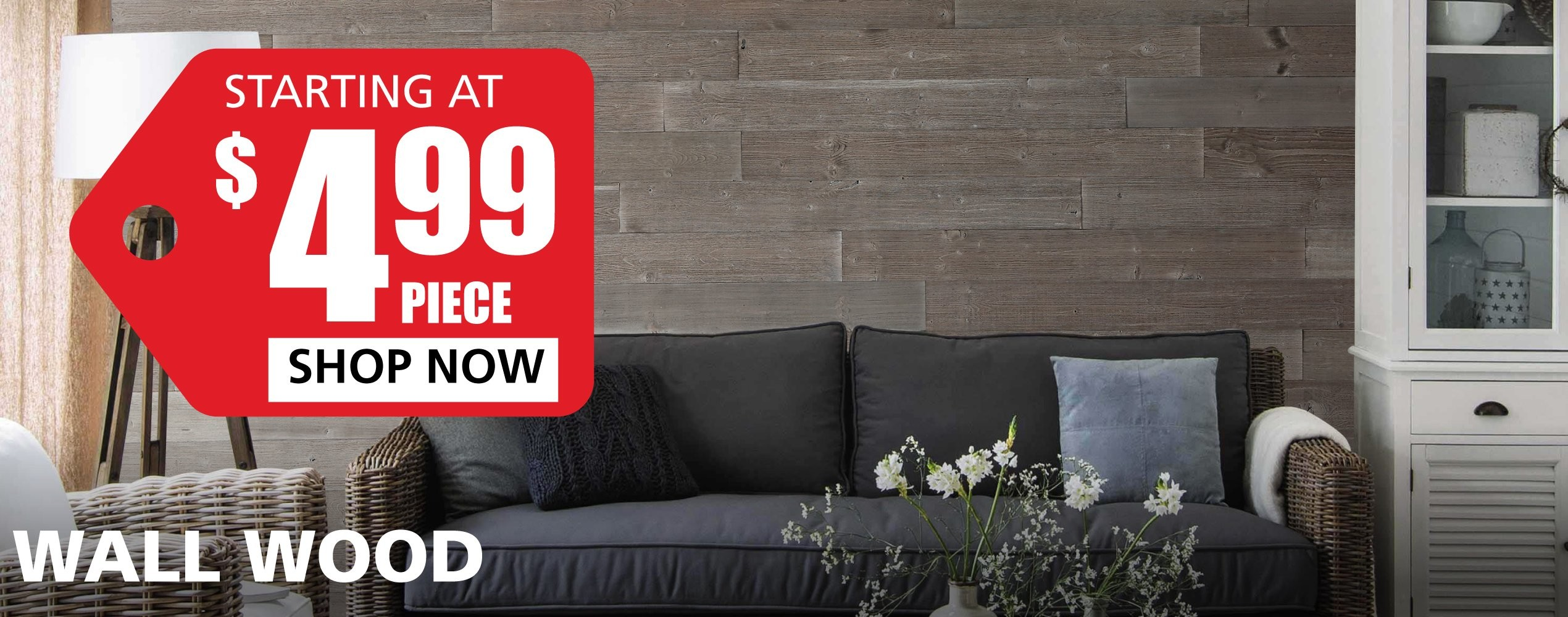 Wall Wood starting at $4.99 per square foot