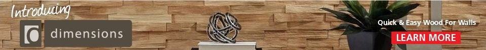 Introducing Dimensions - Quick and Easy Wood for Walls