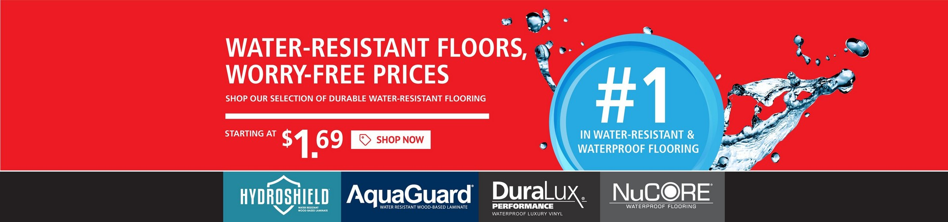 WATER-RESISTANT FLOORS