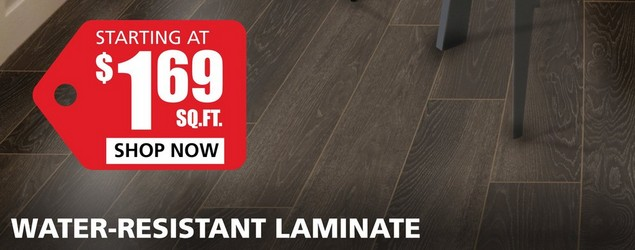 Water Resistant Laminate starting at $1.79 per square foot