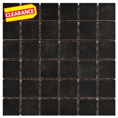 Clearance! Uptown Black Porcelain Mosaic