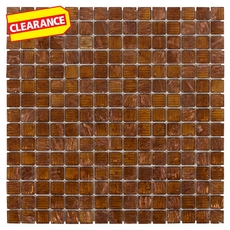 Clearance! Art Copper Mix Glass Mosaic