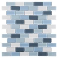 Festival Marsala Multi Finish Brick Glass Mosaic