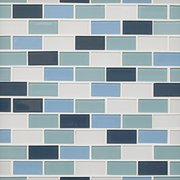 Marsala 1 x2 in. Brick Glass Mosaic